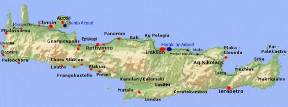 kreta crete map karta